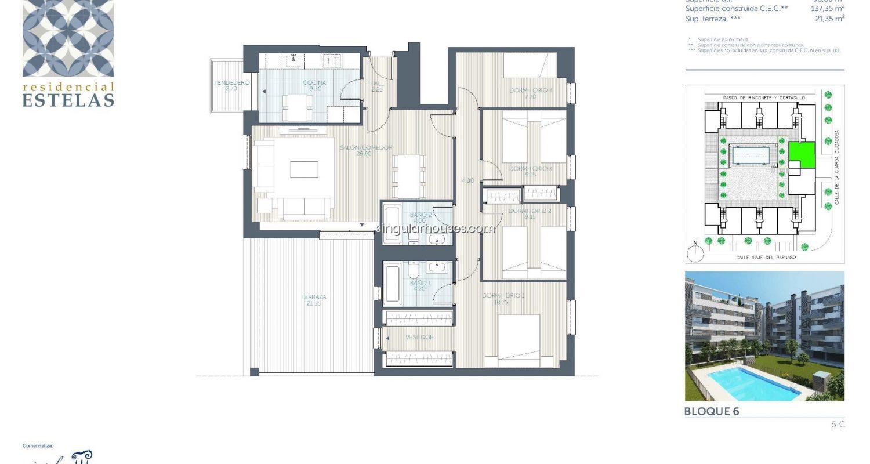 planos de pisos en venta en Getafe